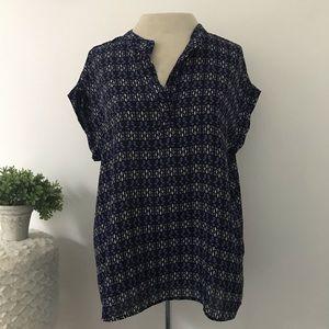 Pleione v-neck geometric blouse